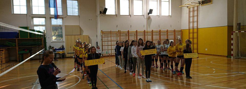 OŠ Fram_Državno četrt-finalno osnovnošolsko tekmovanje v odbojki za učenke